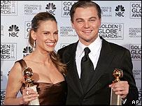 Hilary Swank and Leonardo DiCaprio
