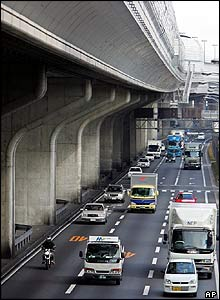 Restored highway, January 2005