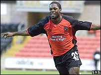 Striker Collin Samuel was on target