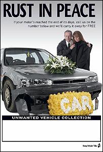 ENCAMS abandoned car amnesty poster