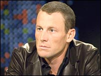 Lance Armstrong on the Larry King Live programme