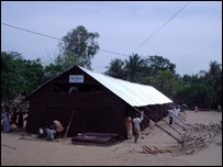 Temporary shelter for tsunami-homeless in south east India