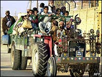 Baluch people migrate from the Sui area
