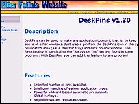 DeskPins website