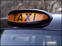Front of taxi
