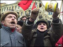 Pension protests