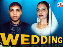 Ibrahim Hafiji and his bride