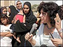 Women protest against the Iraqi constitution