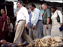 Gordon Brown in Tanzania