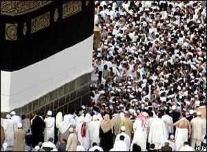 Pilgrims around the Kaaba