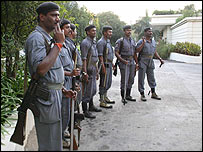 Security forces in Hyderabad