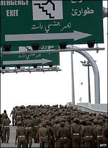 Saudi security deploy at the chokepoint where two million pilgrims will stone the pillars of Jamaraat representing Satan in Mina