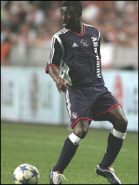 Anthony Obodai in action for Ajax Amsterdam