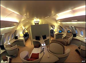 Interior view of the A380