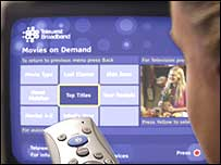 Video on demand service from Telewest