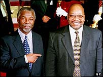 Thabo Mbeki and Jacob Zuma