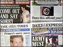 Diarios británicos informan sobre el escándalo del príncipe Harry
