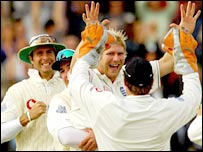 Matthew Hoggard claimed three wickets for England