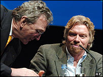 Virgin Atlantic's Sir Richard Branson and Lufthansa chief executive Wolfgang Mayrhuber