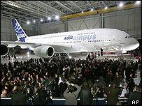 Airbus A380 unveiled in Toulouse
