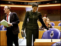 Ayaan Hirsi Ali taking her seat