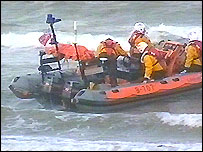 Picture of the search operation in north Wales