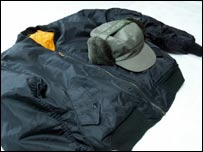 Hat and jacket worn by man police want to trace