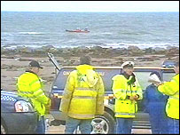 Picture of rescue teams in north Wales