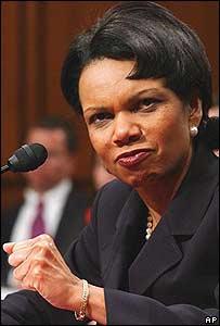 Condoleezza Rice habla ante el comité del Senado que deberá confirmar su nominación a secretaria de Estado de EE.UU.