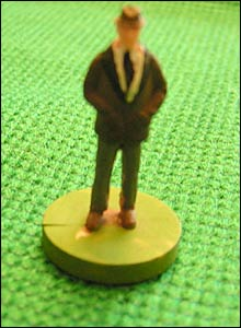 Subbuteo football manager figures