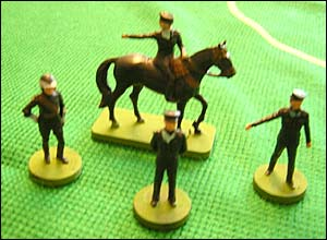 Subbuteo police figures from the 1980s