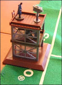 Subbuteo TV commentary and camera gantry