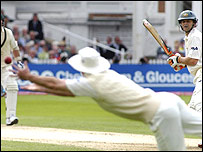 Andrew Strauss catches Adam Gilchrist