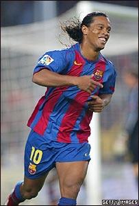Ronaldinho, jugador brasile�o del Barcelona FC