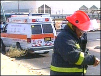 Fireman at scene of Beersheba blast