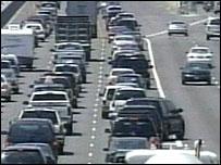 New Orleans traffic jam as motorists flee hurricane