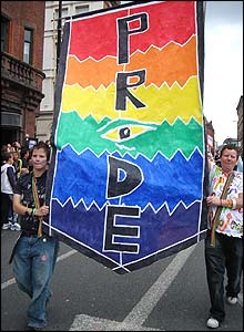 Banner representing Manchester Pride
