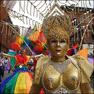 The parade was awash with all the colours of the rainbow