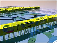 Pier design for a northern supercity, by Will Alsop