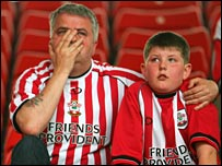 Southampton fans distraught after relegation last season