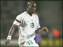 The Ivory Coast and Messina's Marc Kpolo Zoro