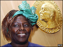 Ecologist and Nobel Peace Proze winner Wangari Maathai