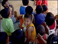 Tribal children from Nicobar island