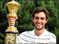 Edoardo Molinarini celebrates his victory