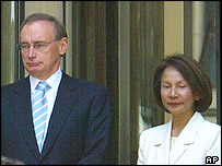 Bob Carr and wife Helena in February 2005