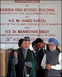 Hamid Karzai and Manmohan Singh in Kabul