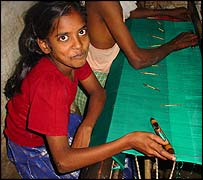 Child weaver Divya