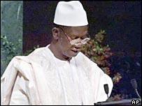 Guinea's President Lansana Conte