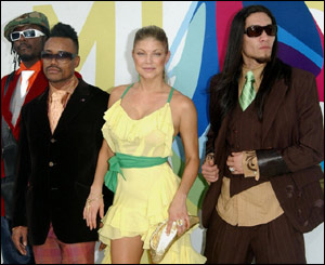 The Black Eyed Peas brought some colour to proceedings.