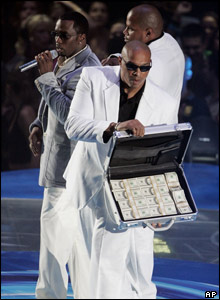 The awards were hosted by P Diddy. His fee for the work is not known.